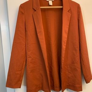 Burnt orange women's H&M blazer, Size 4